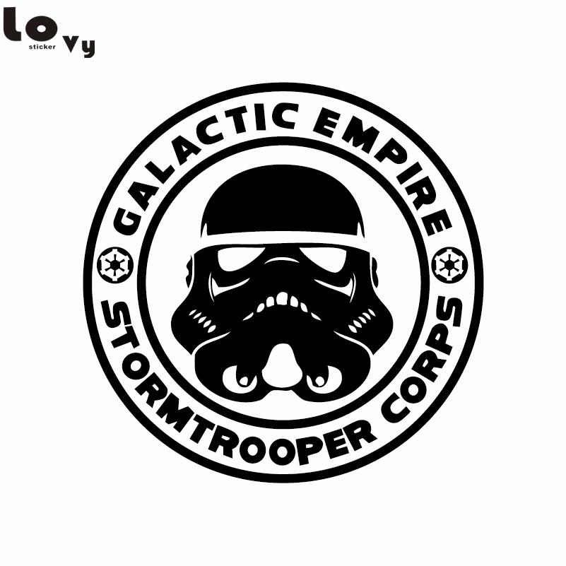 الكلاسيكية فيلم حرب النجوم stormtrooper الإمبراطورية فينيل جدار ملصق ديكور الجدار شارات ديكور المنزل