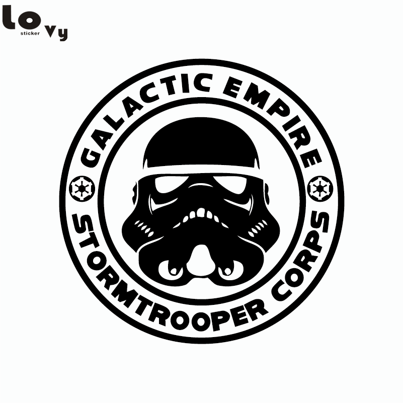 Klasszikus film csillag háborúk Stormtrooper vinil fal matrica dekoratív birodalom fali matrica lakberendezés