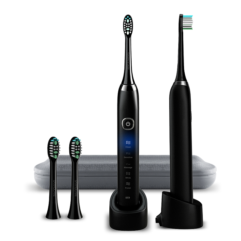 Electric Toothbrush S100 Ultrasonic Sonic tooth brush Wireless rechargeable battery IPX7 Waterproof included extra brushes head
