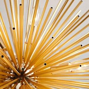 Image 5 - Nordic artístico led alumínio dandelion lustre de ouro pendurado lâmpadas luminária decorativa iluminação led luzes para casa