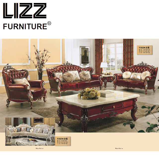 Chesterfield Sofa Royal Furniture Set Living Room Antique Style Sofa