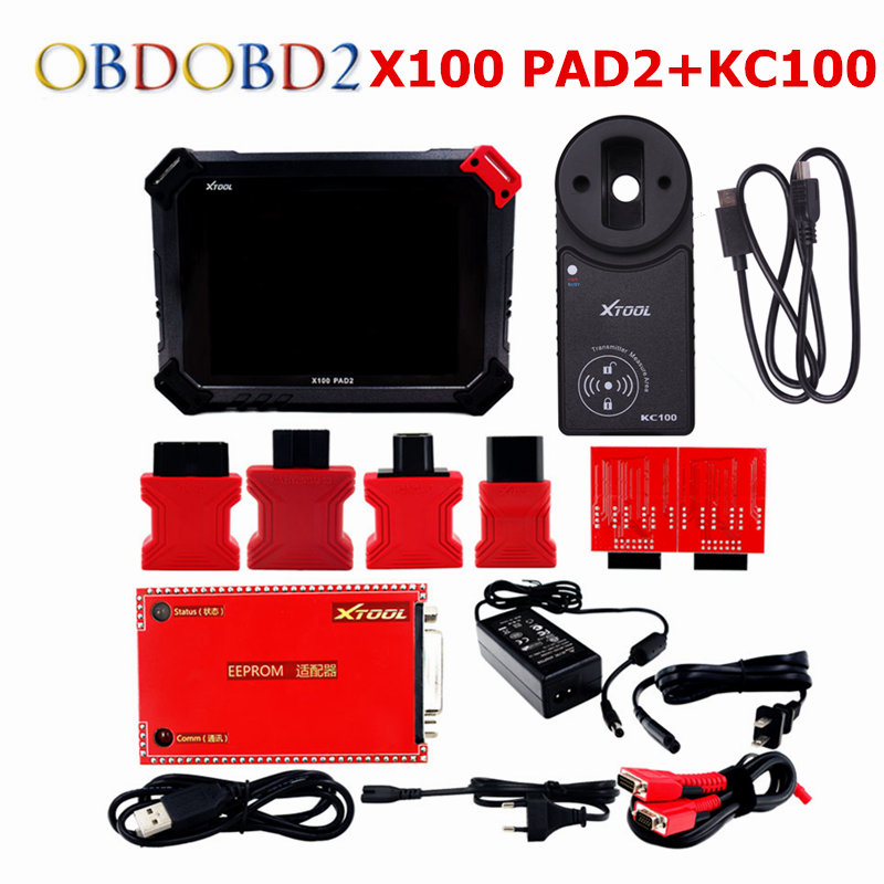 100% Original Xtool X100 PAD2 Pro Wifi & Bluetooth with VW 4th 5th X100 PAD 2 Pro with KC100 For EPB EPS Odometer Key Programmer