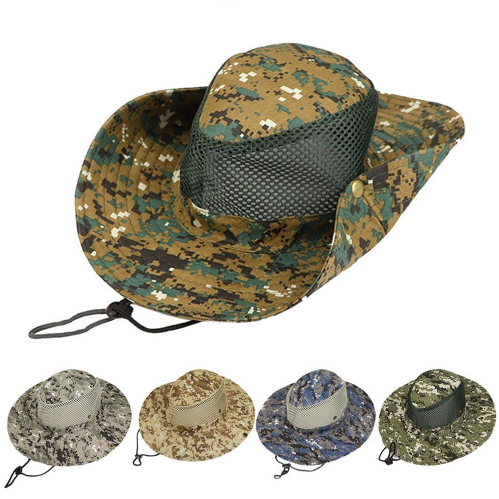 b5d7a4d5eb0 Detail Feedback Questions about Outdoor Bucket Hats Mens Jungle Military  Camouflage Fishing Sun Protcet Hat Camping Barbecue Cotton Mountain  Climbing Caps ...