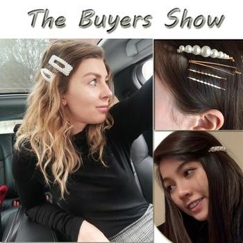 M MISM Pearls Hair Clips for Women Fashion Sweet Imitation Korean Style Hairpins Alloy BB Headmade Girls INS Hair Accessories 1