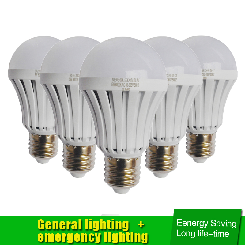 AC85-265V E27 5W 7W 9W 12W LED Smart Emergency Light Led Bulb Rechargeable Battery Lighting Lamp Intelligent Magical Bombillas