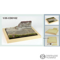 OHS JNModel CD0102 1/35 Village Roads and Broken Wall Scene Assembly Miniatures Accessories Model Building Kits oh