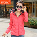 6 Colors Women coat Winter and Autumn 2016 New Fashion Hooded Parkas coats Lady Jackets Female Cotton-padded outwear M75