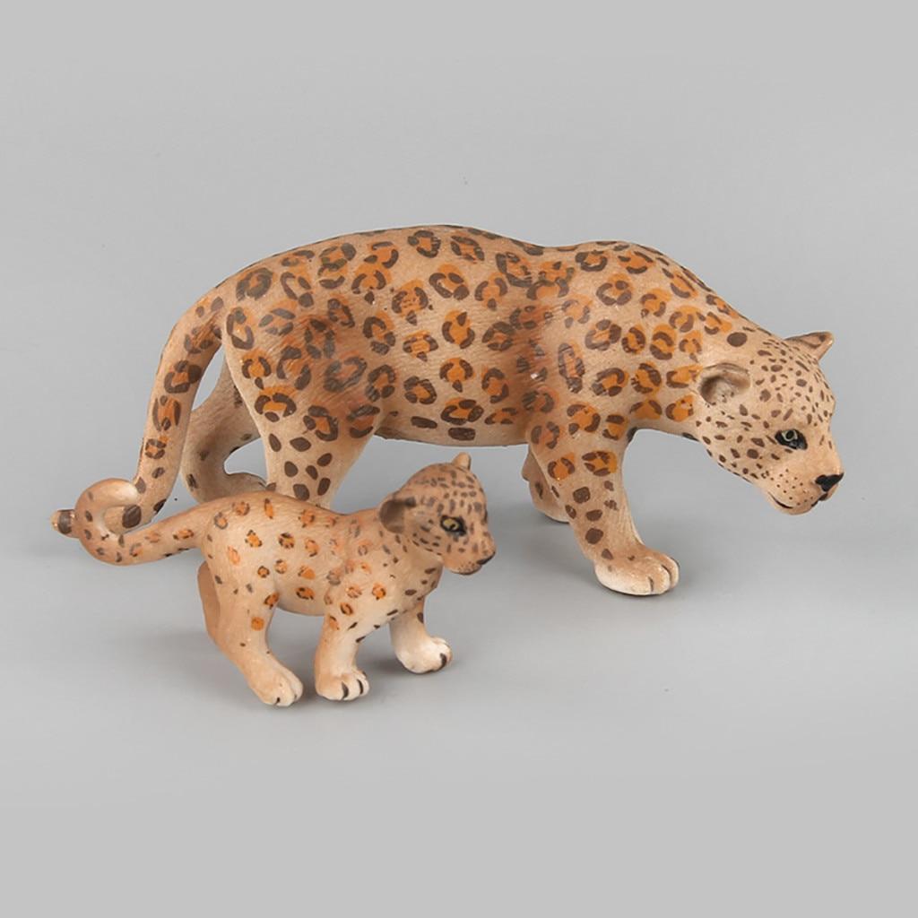 Kids Educational Toy Science Leopard Animal Models Ornament Figurine Decoration
