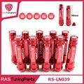 M12X1.5 20 Шт. 326 Power Racing Красный Алюминиевого Сплава 90 ММ Колесные Гайки С Пробками RS-LN039