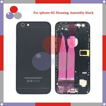 10Pcs/Lot high quality For iPhone 6 6G Full Housing Assembly black Back Cover Battery with Sim Card Tray + Buttons+ Flex Cables