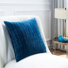 LUCIA Soft Velvet Cushion Covers 45*45cm/50*50cm 100% Polyester Stripe Decorative Cover for Sofa Chair Car Throw Pillow