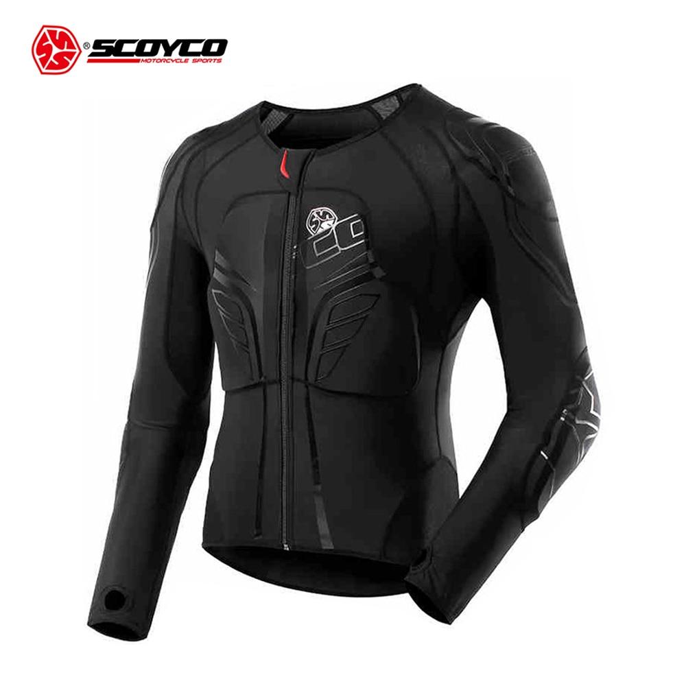 SCOYCO veste de Moto Protection de Motocross équipement de Protection armure de Motocross course armure de corps veste de Moto noir armure de Moto