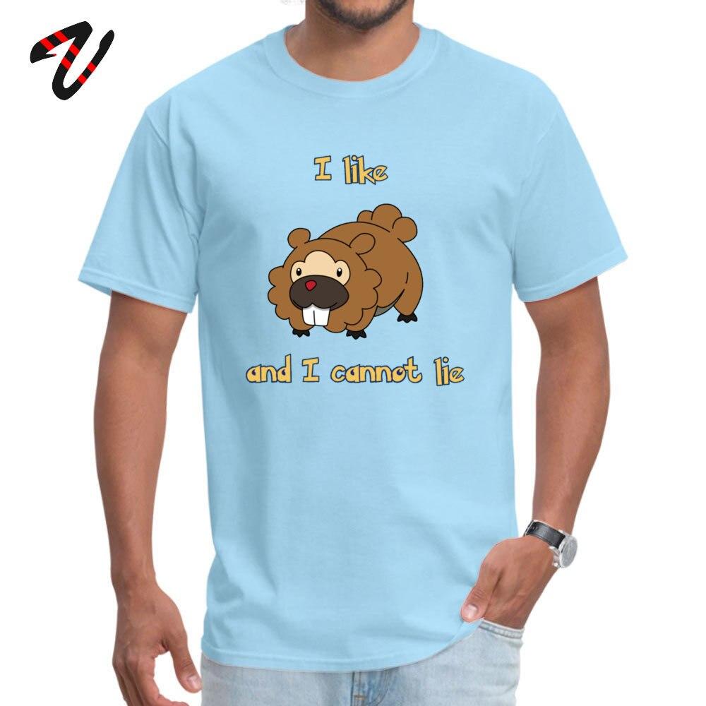 Tops T Shirt Summer Clothing Shirt Summer 2019 Discount Europe Short Sleeve 100% Cotton Round Neck Men Top T-shirts Europe I Like Bidoof and Can not Lie 6178 light