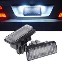 New 2 Pcs 18 LED SMD No Error License Plate Light For Benz W203 W211 W219