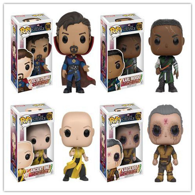 Funko pop Official Marvel Doctor Strange - Strange, Kaecilius, Ancient One, Karl Mordo Vinyl Figure Collectible Model Toy official funko pop marvel x men logan wolverine vinyl action figure collectible model toy with original box