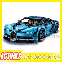 4031pcs Bugattied Racing Car Chiron Compatible with Legoings Technic Model Building Blocks Bricks DIY Toys Kids Gifts