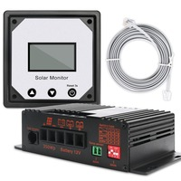 20A 12V APP MPPT Solar Charge Controller Intelligent Solar Battery Charging Regulators for RV Boat Car PV Solar Panel Kit