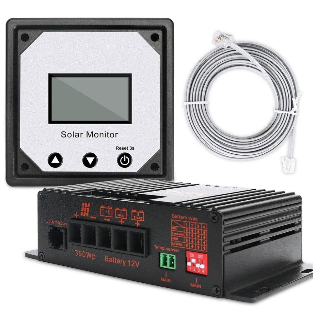 OLYS 20A 12V APP MPPT Solar Laderegler Intelligente Solar Batterie Lade Regler für RV Boot Auto PV Solar panel Kit