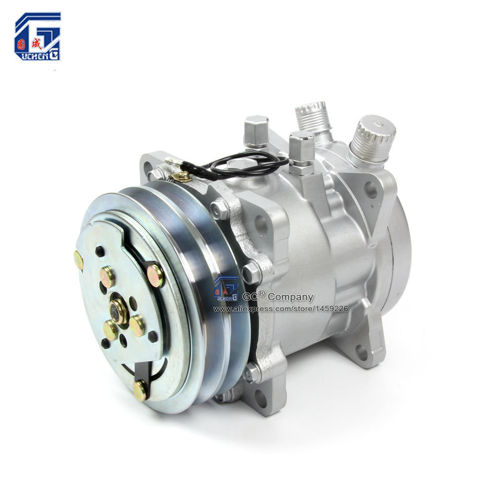 A/C AC Air Conditioning Compressor SD505 5H09 12V / 24V 2A V Belt Pulley Tractor Excavator Heavy Duty Truck Pickup Universal hsp rc car 1 10 electric power remote control car 94601pro 4wd off road short course truck rtr similar redcat himoto racing