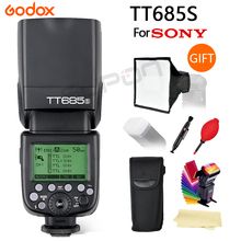 Godox TT685 TT685S 2.4G HSS 1/8000s TTL Camera Flash +15*17 cm softbox+gift for Sony A77II A7RII A7R A99 A58 A6500 A6000 A6300 цены онлайн