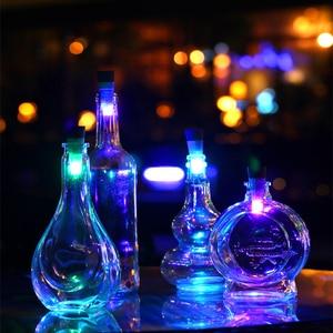 Image 1 - 1pc butelka wina z oświetleniem LED lampka nocna magiczny korek w kształcie USB akumulator korek lampa na czapkę dekoracje świąteczne kreatywny romantyczny biały