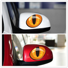 Funny cute cartoon character sticker leopard eye fancy style applique decorative car