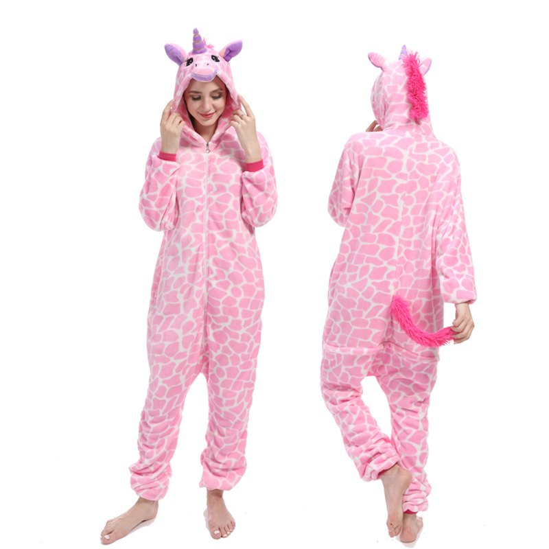 dad1ab46 Hot Sale] 2019 Animal Unicorn Pajamas Adults Winter Sleepwear ...