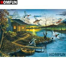 HOMFUN 5D DIY Diamond Painting Full Square/Round Drill Lake house Embroidery Cross Stitch gift Home Decor Gift A09068 homfun 5d diy diamond painting full square round drill lake scenery embroidery cross stitch gift home decor gift a09348