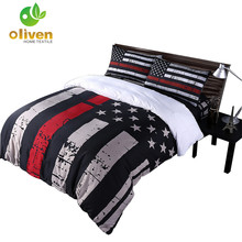 Classic Bedding Set American Flag Series Duvet Cover Striped Star Patchwork Bed Cover Pillowcase Queen King Quilt Cover 3Pcs B35