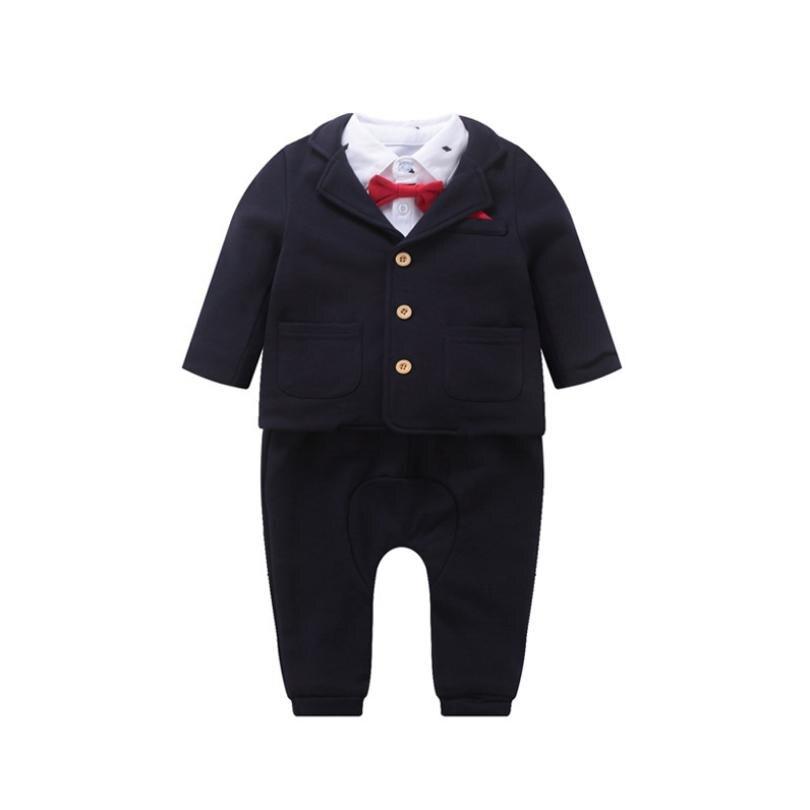 Newbron enfants blazer ensembles bébé garçon vêtements simple boutonnage infantile costumes blazer + chemise + bretelles pantalons ensembles lavage robe Y224