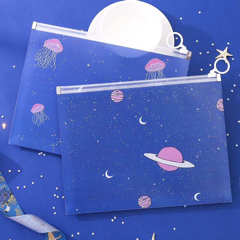 Strawberry Airship Thickening Waterproofing A5 File Folder Document Filing Bag Stationery Bag