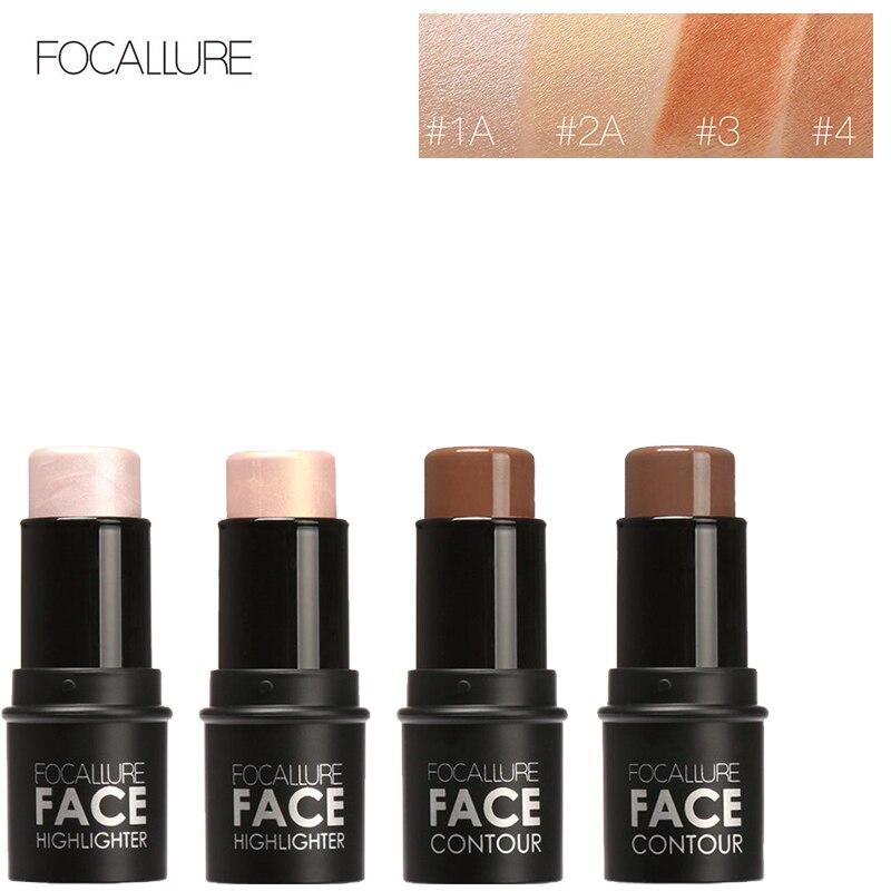 1pcs Pro Contour Stick Makeup Creamy Highlighter Sticker Bronzer Create For Face Make up Concealer Full Cover Blemish