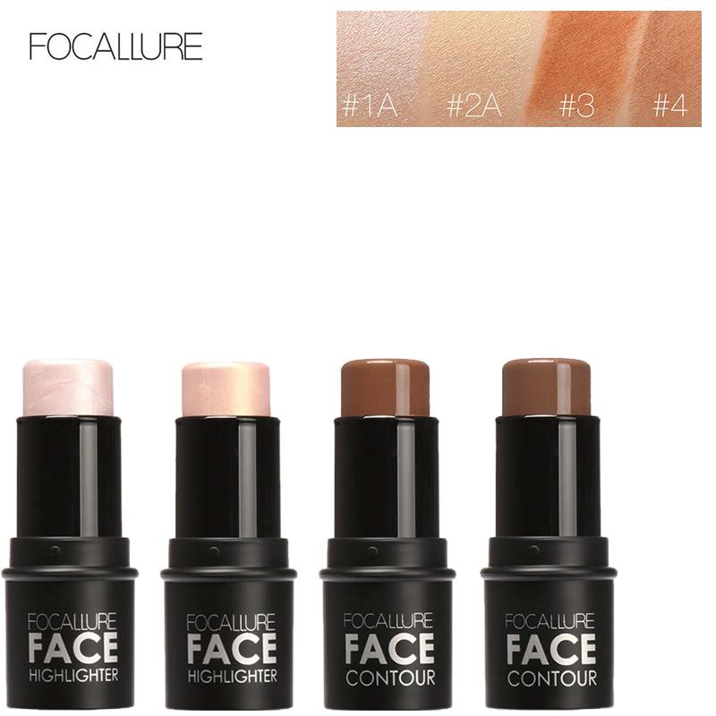 1 pcs Pro Vara Contorno Maquiagem Bronzer Highlighter Etiqueta Criar Para Face Make up Corretivo Cremoso Defeito Cobertura Completa