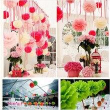 5pcs 10(25cm) Weeding Decoration Paper Flowers Colorful Poms Flower Event & Party Supplies