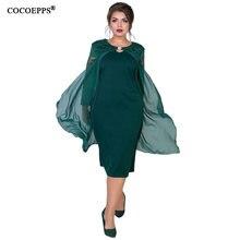 e6c493a404 Encaje vestido de verano de las mujeres Plus tamaño otoño 2 piezas de gran  tamaño vestido de mujer capa abrigo Bodycon delgado v.
