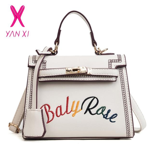 YANXI Hasp Women Bag 2018 Fashion New Handbag Quality PU Leather Women Tote  Bag Simple Shoulder Messenger Bags Crossbody Bag 4dad17e6b51e4
