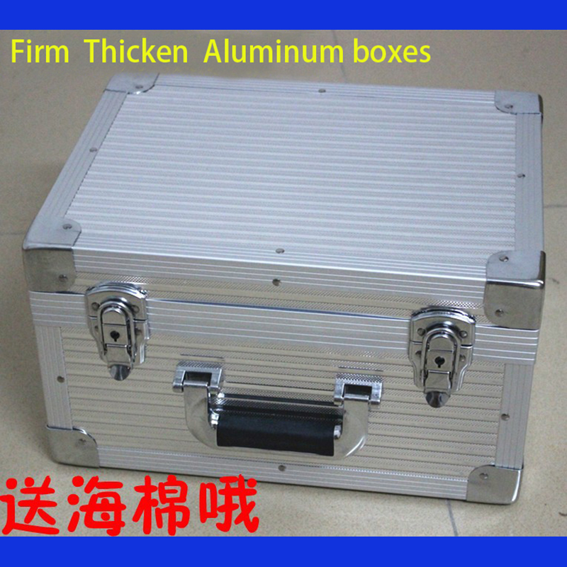 Tactical box aluminium tool case350*260*190MM magic props file storage Hard carry Hand Gun Locking Pistol free shipping