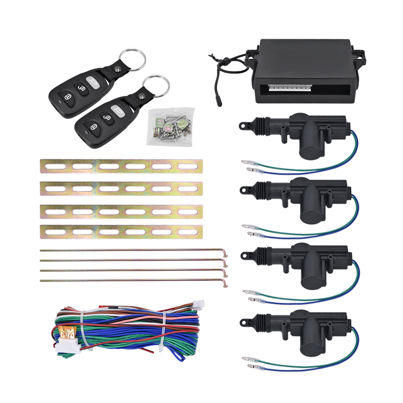 Auto car remote central Locking car Alarm system security Kit Remote 4 Door Keyless Entry System 360 Degree Rotation car kit