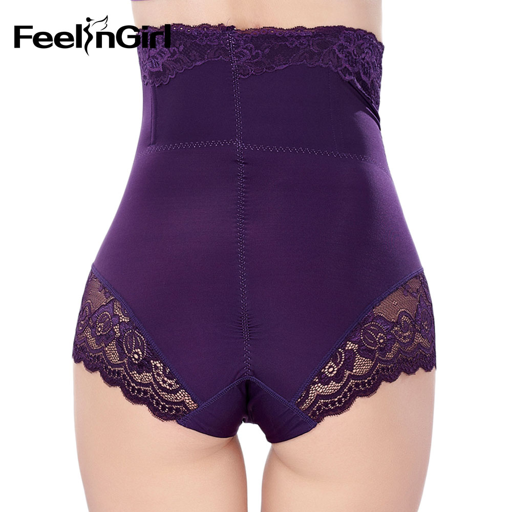 5abe5e43402 Feelingirl High Waist Trainer Tummy Control Panties Hip Butt Lifter Body  Shaper Slimming Underwear Slimmer Thong Shapewear -D