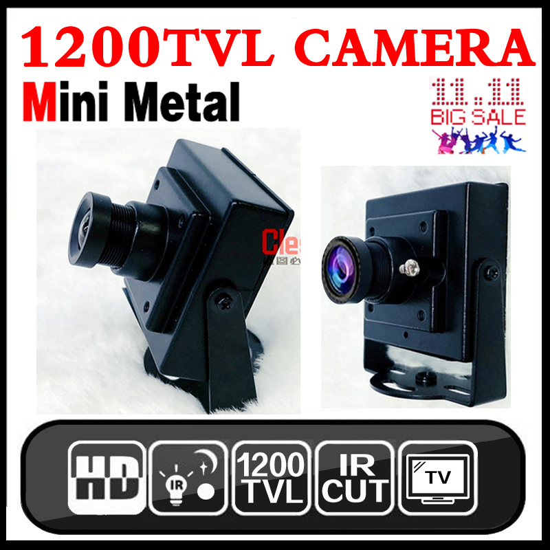 17hot Metal Mini Hd 1/3cmos Real 1200TVL Cctv MINI Camera 3.6mm LENS Security Surveillance Color INdoor Home Video have Bracket new micro cone 3 7mm lens hd 1 4cmos 1200tvl small color analog video cctv security mini camera surveillance metal have bracket