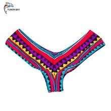 Одежда для плавания женские трусы бикини с боковыми завязками бразильские стринги Купальный костюм Классические плавки бикини короткие женские плавки