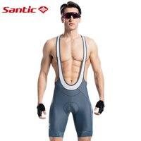 Santic Cycling Bib Shorts Summer 4D Gel Padded Bike Clothing Tights Shorts MTB Triathlon Bicycle Bib Shorts