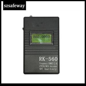 Image 2 - SZSAFEWAY RK560 50MHz 2.4GHz 휴대용 핸드 헬드 주파수 카운터 DCS CTCSS 무선 주파수 측정기 카운터