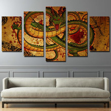 Canvas Painting Living Room Wall Poster Frame In Modular HD Print 5 Panel Decor Pictures Cartoon Dragon Ball Anime Photo