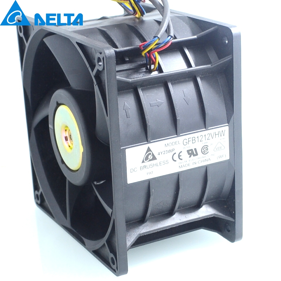 Delta New GFB1212VHW 12076 high speed dual-motor 12V 3.98A fan violence 120*120*76mm original delta afb0912shf 9032 9cm 12v 0 90a dual ball bearing cooling fan