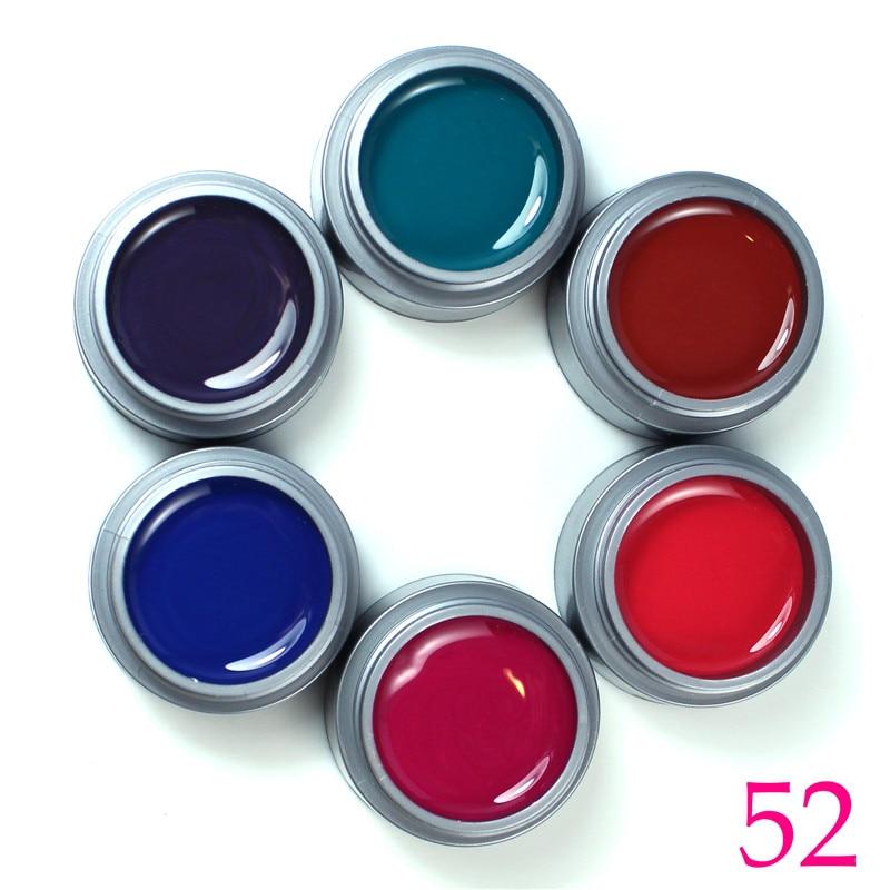 Gel Gel 6pcs Mix Color UV Gel UV Builder Gel Gel اکریلیک DIY - هنر آرایش ناخن