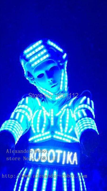 LED робот для девочек костюм/женская светящаяся Костюмы/Легкие костюмы/LED Робот костюмы/Дэвид робот/N робот