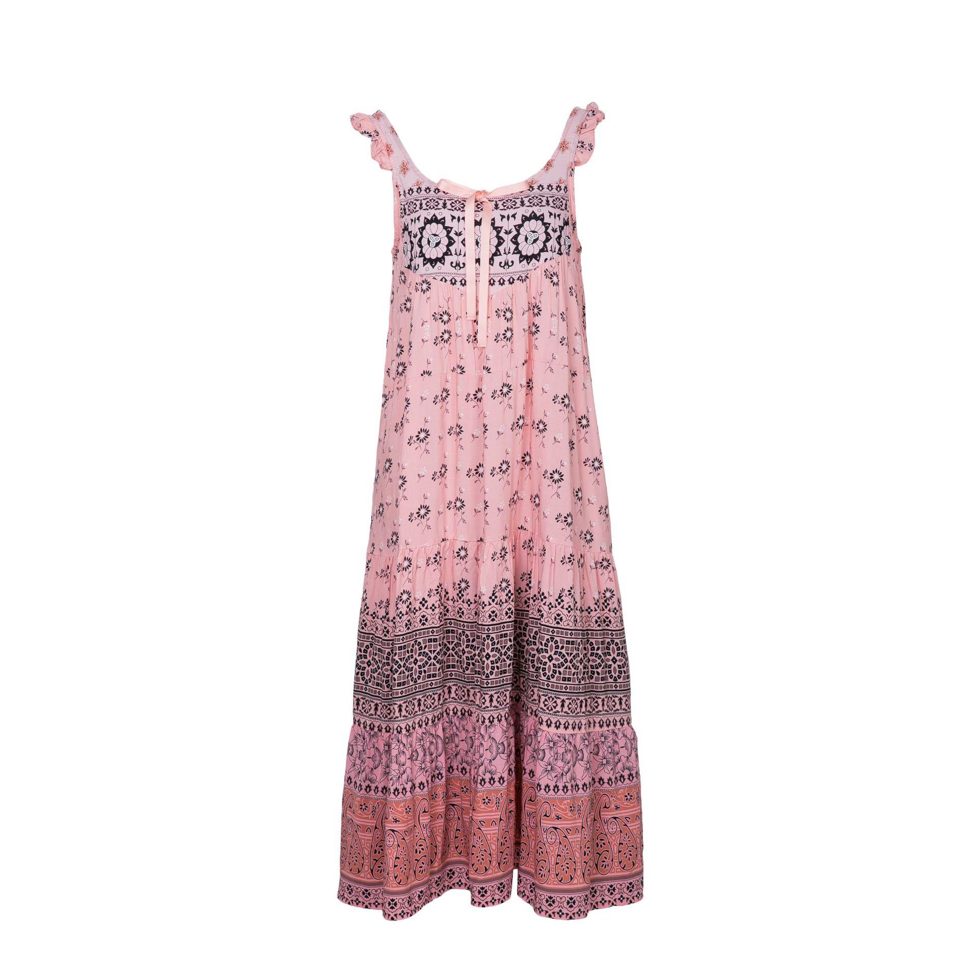 4d08cc983a1 Aliexpress.com   Buy Women Dress 2018 Summer Sleeveless Print Dress Female  V Neck Bohemian Dress Loose Long Holiday Beach Dress Women from Reliable  beach ...