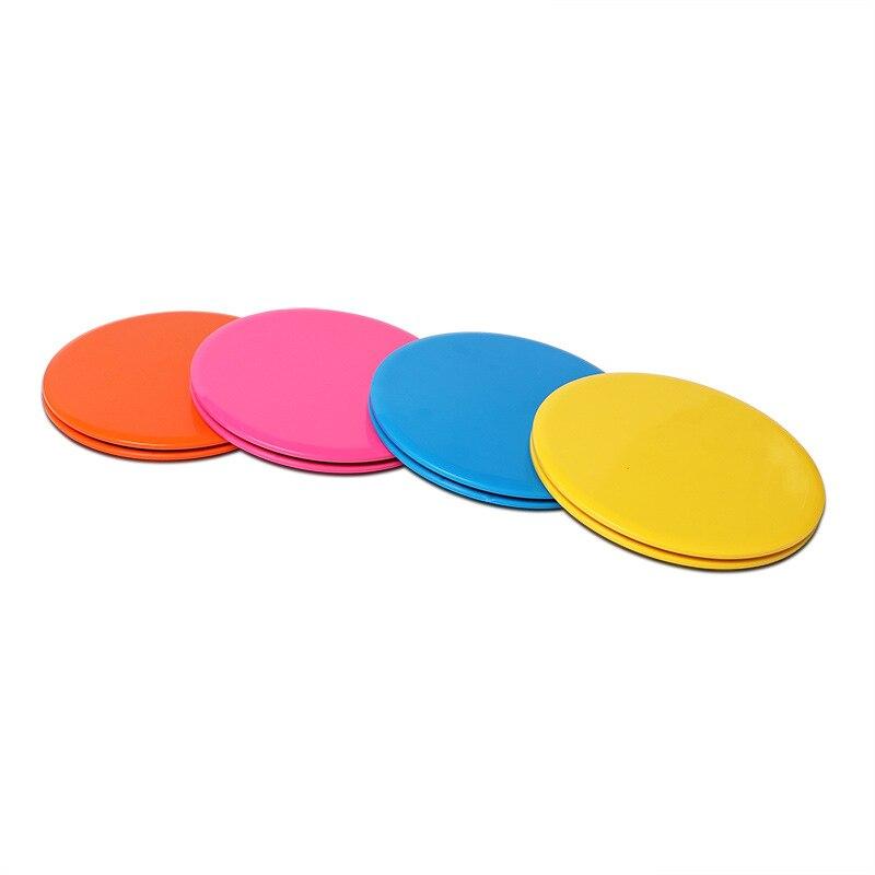 1 par Crossfit deslizamiento discos Glide ejercicio Core Slider disco Core entrenamiento deslizante disco negro