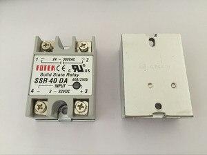 1 CÁI SSR40DA SSR-40DA Nhà Sản Xuất 40A ssr relay, input output 3-32VDC 24-380VAC